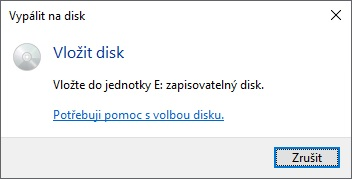 VYpalování CD a DVD ve Windows 10 - 3