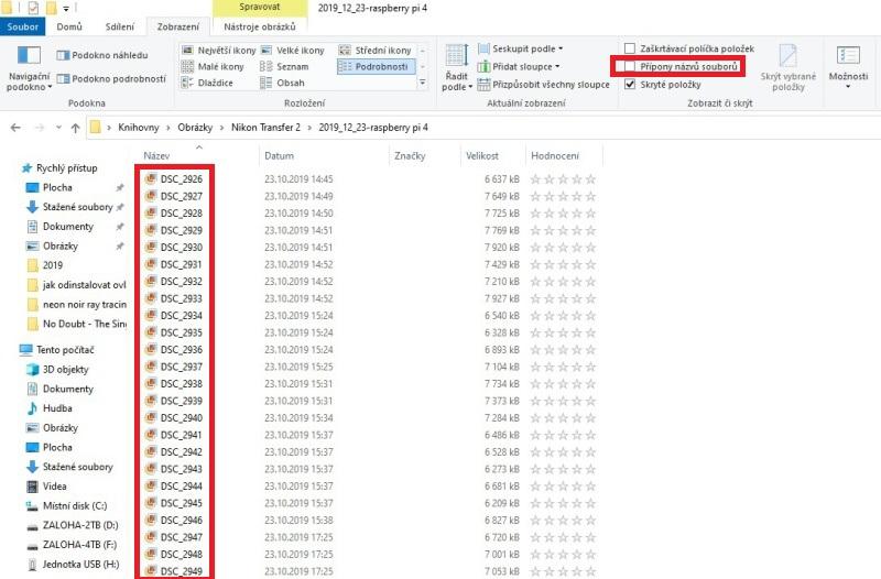 Zobrazení přípon souborů ve Windows 10