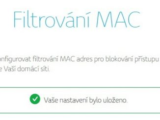 Filtrování mac adresy v routeru Compal 4