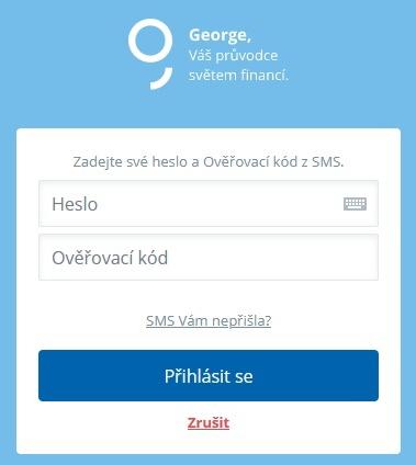 George internetové bankovnictví Česká spořitelna 2