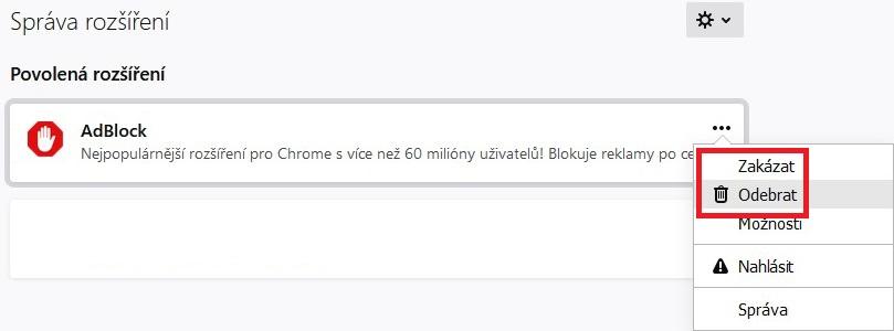 Jak vypnout Adblock v Mozilla Firefox