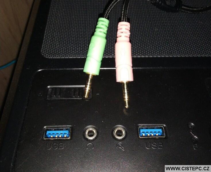 Konektory - mikrofon - sluchátka