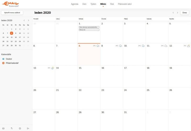 Seznam kalendář 3
