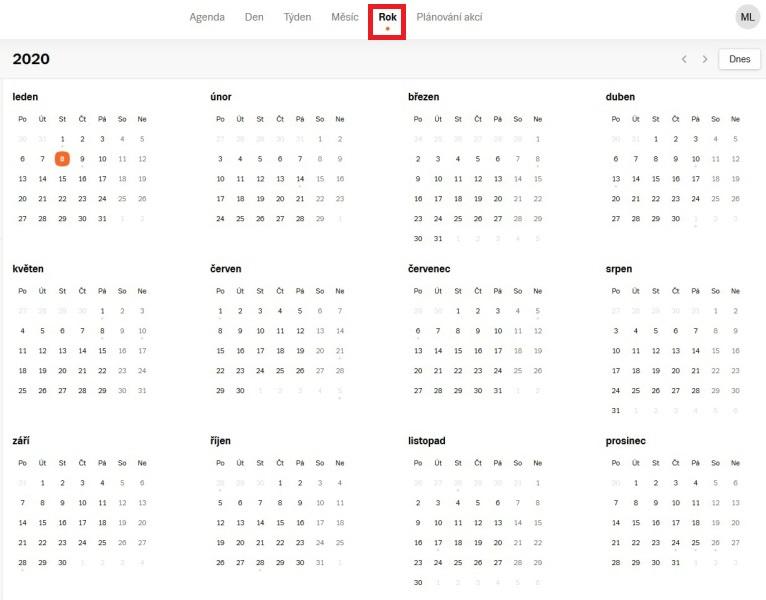 Seznam kalendář 9