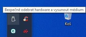 Bezpečné odebrání disku ve Windows 10 - 1