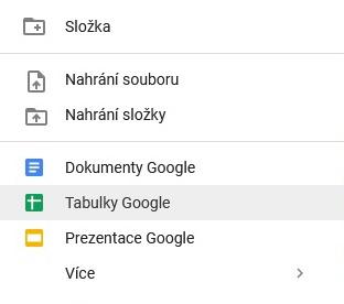 Jak vytvořit tabulku Google 2