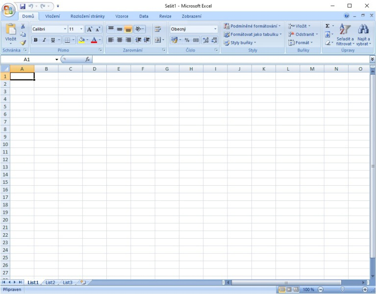 Jak vytvořit tabulku v Excelu 1