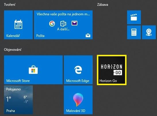 Připnutí aplikace na obrazovku Start ve Windows 10 - 2