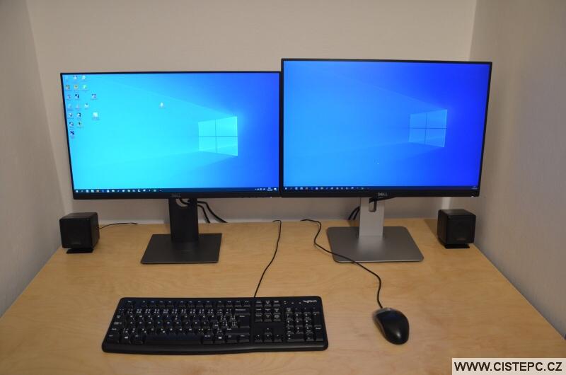 2 monitory u pc - rozšířený obraz