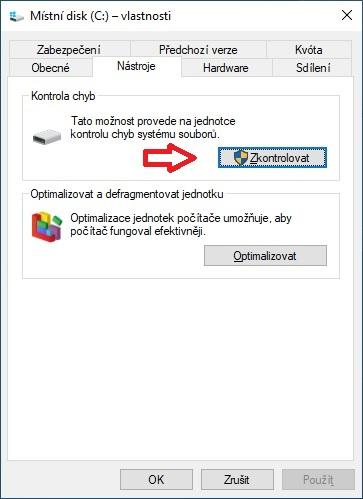 Kontrola chyb disku - Windows 10 - 2