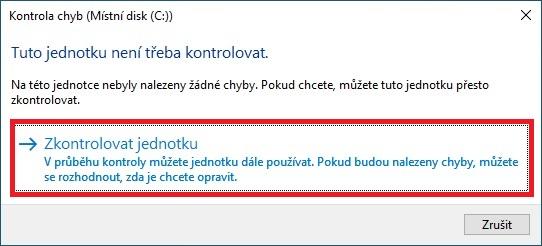 Kontrola chyb disku - Windows 10 - 3