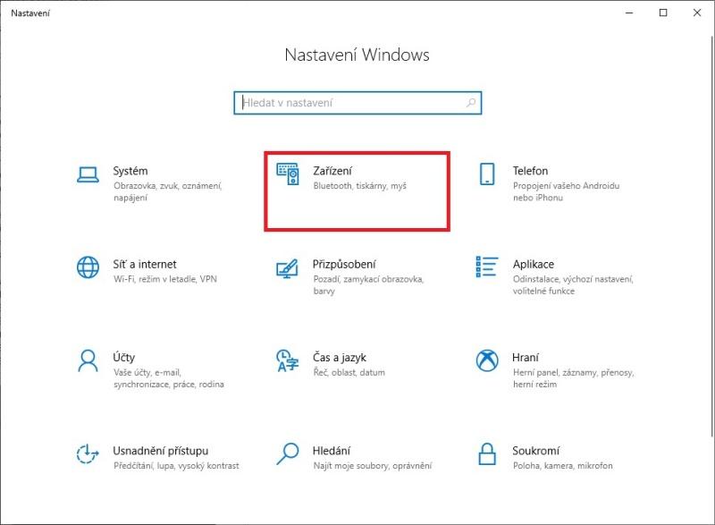 Nastavení výchozí tiskárny ve Windows 10 - 1