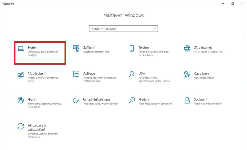 Noční osvětlení ve Windows 10 - 1