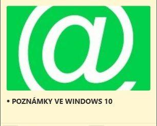 Rychlé poznámky ve Windows 10