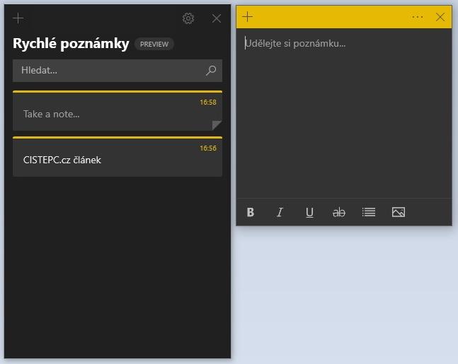 Rychlé poznámky ve Windows 10 - 4