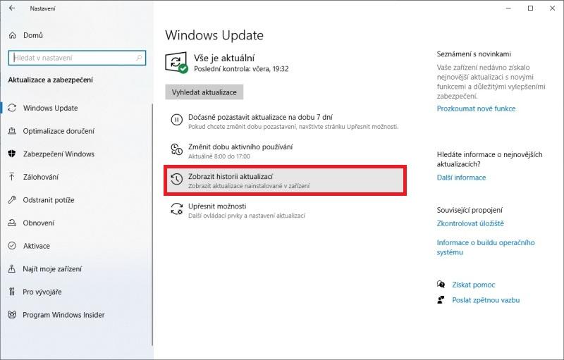 Jak odinstalovat aktualizaci Windows 10 - 3