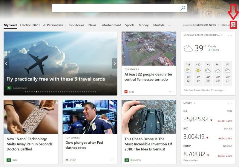 Microsoft Edge v angličtině