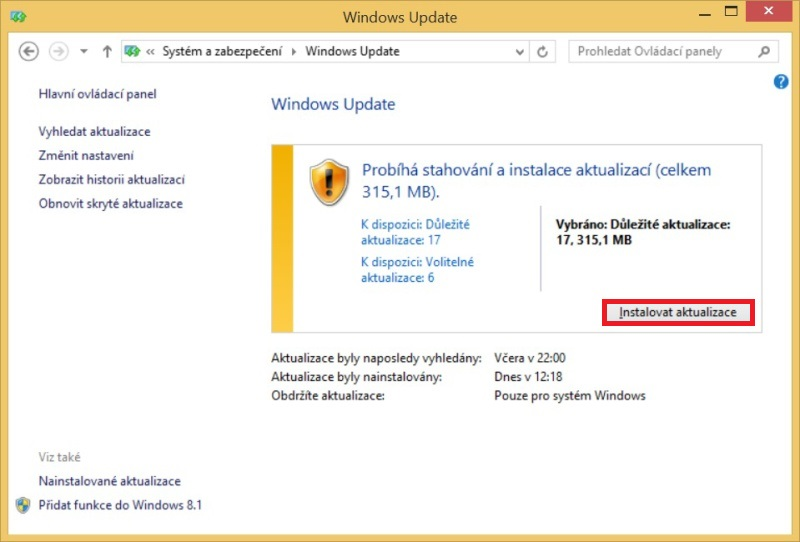 Windows 8.1 aktualizace 4