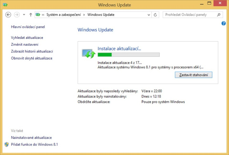 Windows 8.1 aktualizace 5
