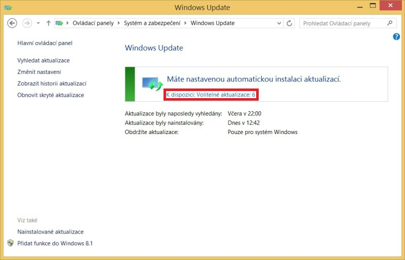 Windows 8.1 aktualizace 7