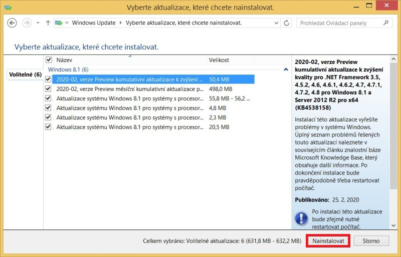 Windows 8.1 aktualizace 8