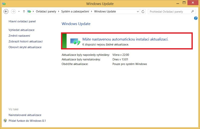 Windows 8.1 aktualizace 9
