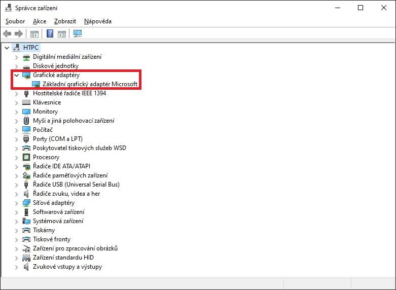 Aktualizace ovladače grafické karty nVidia ve Windows 10 - 1