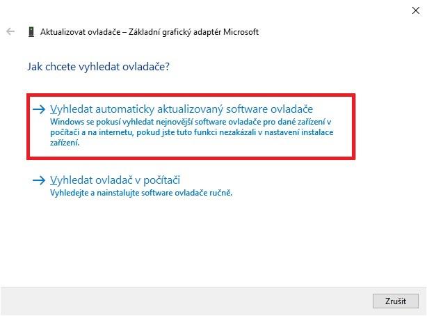 Aktualizace ovladače grafické karty nVidia ve Windows 10 - 3