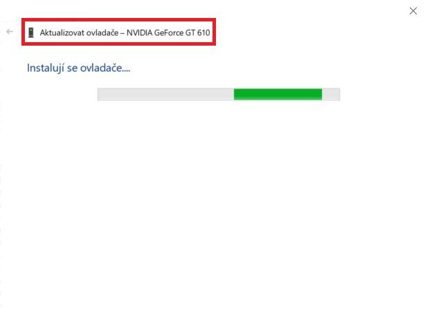 Aktualizace ovladače grafické karty nVidia ve Windows 10 - 5