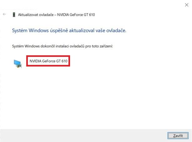 Aktualizace ovladače grafické karty nVidia ve Windows 10 - 6