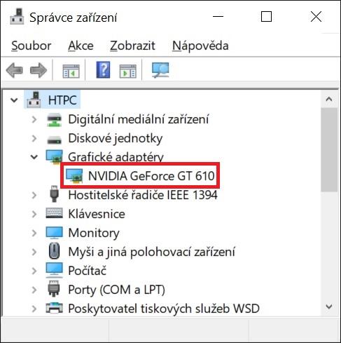 Aktualizace ovladače grafické karty nVidia ve Windows 10 - 7