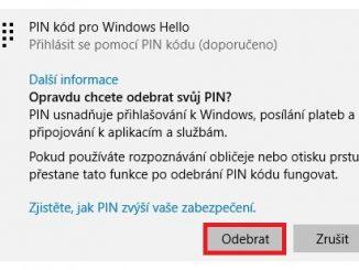 Jak vypnout PIN ve Windows 10 - 3
