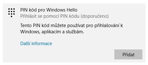 Jak vypnout PIN ve Windows 10 - 5