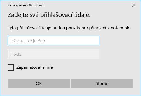 Vzdálená plocha Windows 10 - 8