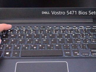 Dell Vostro 5471 Bios setup