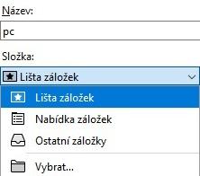 Oblíbené Mozilla Firefox 2