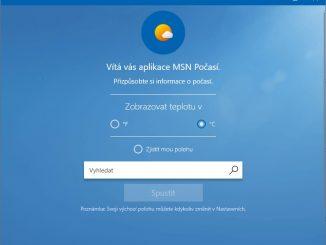 Předpověď počasí Windows 10