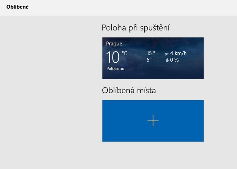 Předpověď počasí Windows 10 - 5