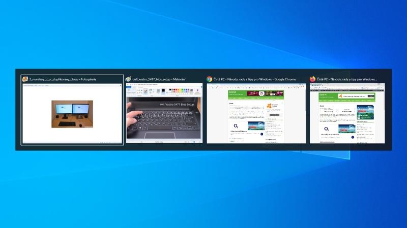 Živé náhledy otevřených oken ve Windows 10