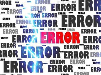 error - chyba v pc