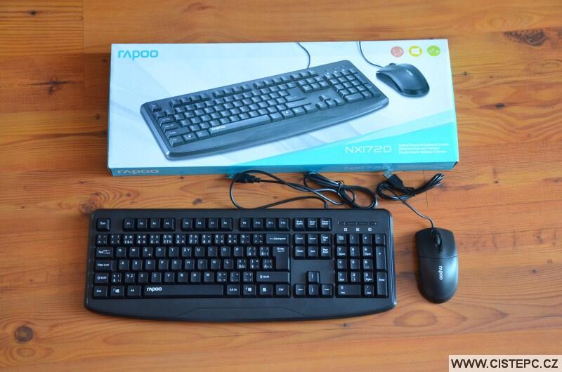 Klávesnice a myš: RAPOO NX1720, drátový set