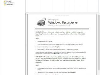 Nástroj fax a skener ve Windows 10 - 2