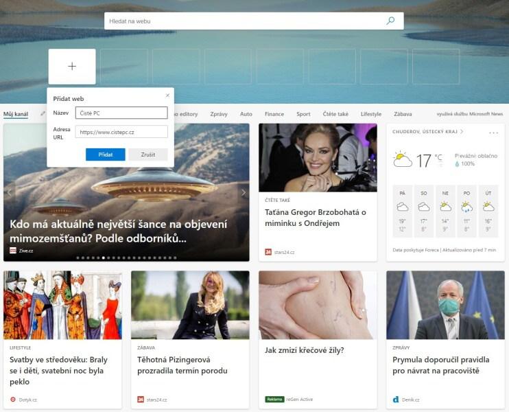 Nový Microsoft Edge 10