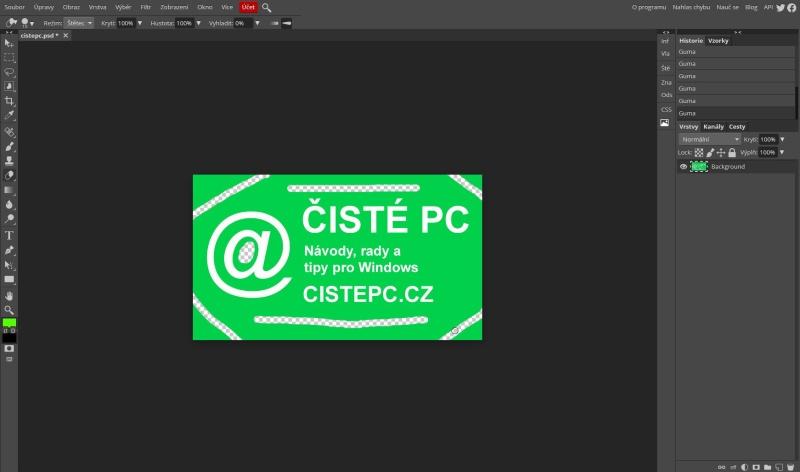 Photopea grafický editor 3