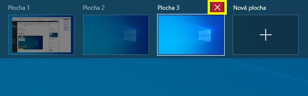 Virtuální plochy Windows 10 - 2