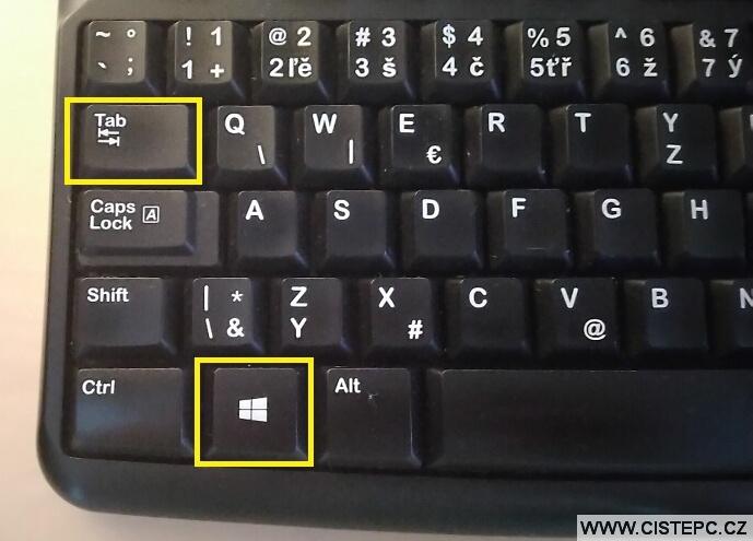 Virtuální plocha Windows10 - klávesová zkratka