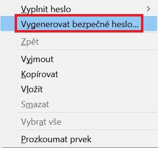 Vygenerovat bezpečné heslo
