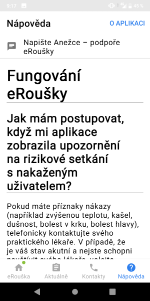 eRouška aplikace 11