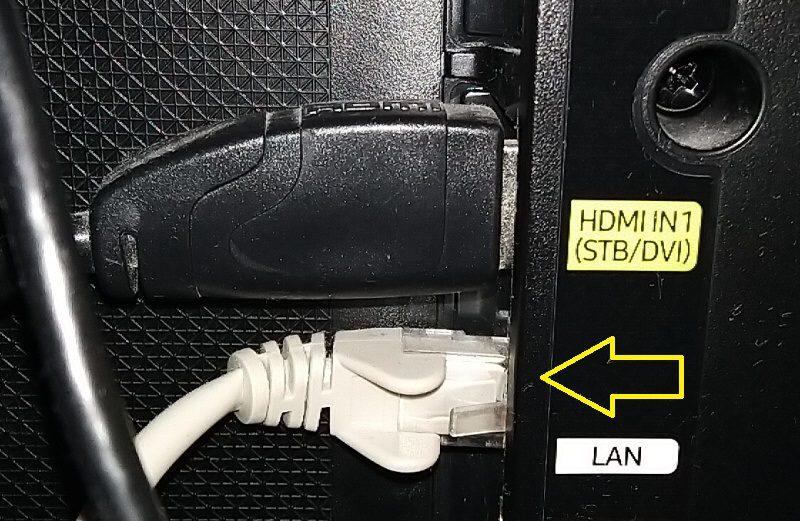 Jak připojit TV Samsung k internetu kabelem