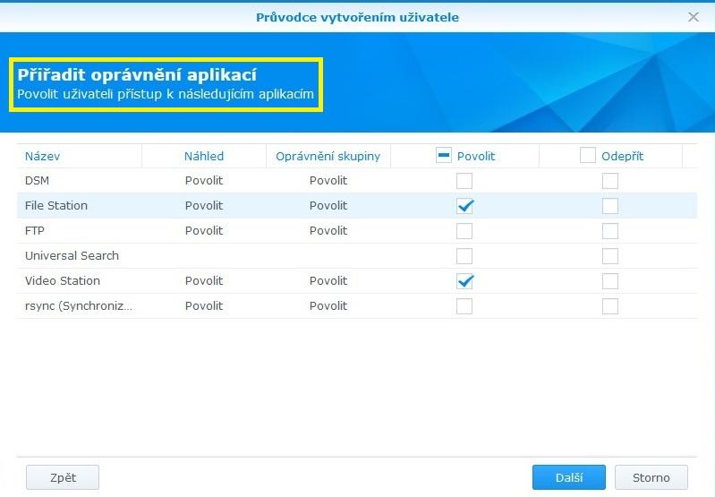 Jak vytvořit uživatele na Synology NAS 06